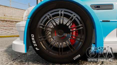 BMW M3 GTR 2012 Most Wanted v1.1 für GTA 4 Rückansicht
