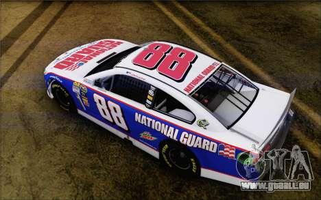 Chevrolet SS NASCAR Sprint Cup 2013 pour GTA San Andreas sur la vue arrière gauche