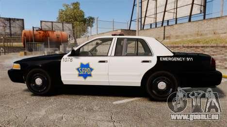 Ford Crown Victoria San Francisco Police [ELS] pour GTA 4 est une gauche