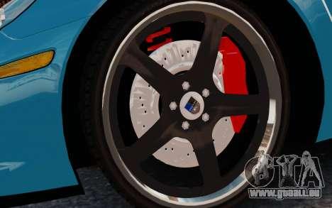 Chevrolet Corvette Grand Sport 2010 pour GTA 4 Vue arrière
