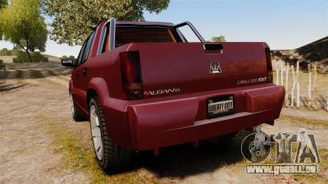 GTA V Albany Cavalcade FXT pour GTA 4 Vue arrière de la gauche