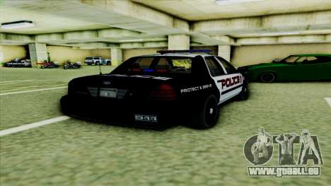 Ford Crown Victoria Police Interceptor pour GTA San Andreas vue de droite
