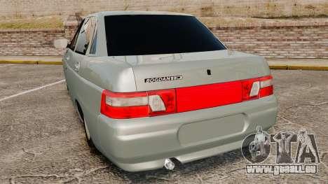 VAZ-2110 110 Bogdan pour GTA 4 Vue arrière de la gauche