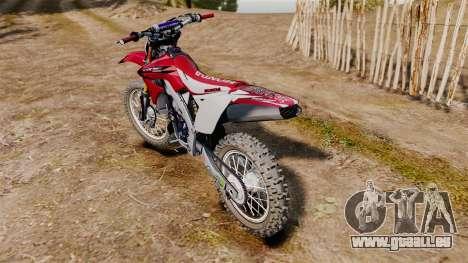 Kawasaki KX250F (Honda CRF450) pour GTA 4 est un droit