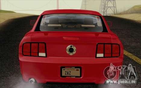 Ford Mustang GT 2005 pour GTA San Andreas vue intérieure
