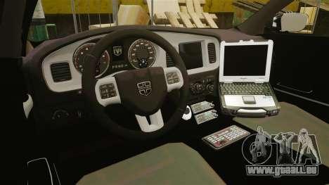 Dodge Charger 2013 Patrol Supervisor [ELS] pour GTA 4 Vue arrière