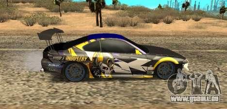 Nissan Silvia S15 Drift Industry für GTA San Andreas zurück linke Ansicht