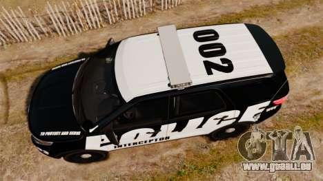 Ford Explorer 2013 Police Interceptor [ELS] pour GTA 4 est un droit