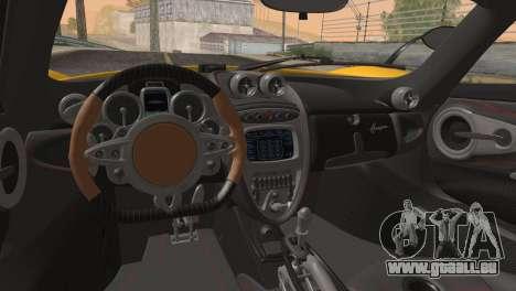 Pagani Huayra für GTA San Andreas Seitenansicht
