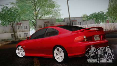 Pontiac GTO 2005 pour GTA San Andreas laissé vue