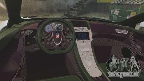 GTA Spano pour GTA 4 est une vue de l'intérieur