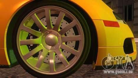 Bugatti Veyron 2009 pour GTA San Andreas sur la vue arrière gauche