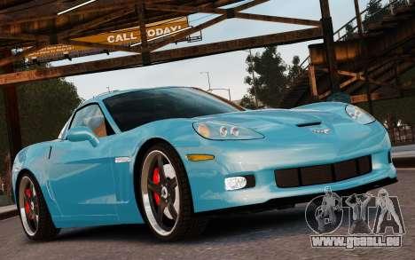 Chevrolet Corvette Grand Sport 2010 pour GTA 4 vue de dessus