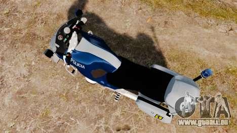 BMW R1150RT Portuguese Police [ELS] pour GTA 4 Vue arrière de la gauche