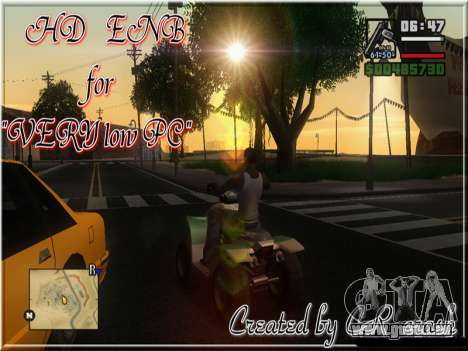 HD ENB for very low PC pour GTA San Andreas