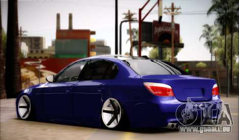 BMW M5 E60 Vossen pour GTA San Andreas laissé vue