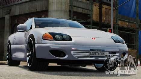 Dodge Stealth Turbo RT 1996 für GTA 4 Rückansicht