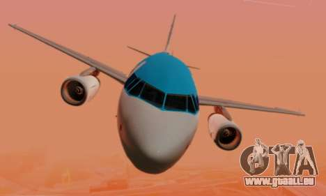 Airbus A319 KLM pour GTA San Andreas vue de dessous