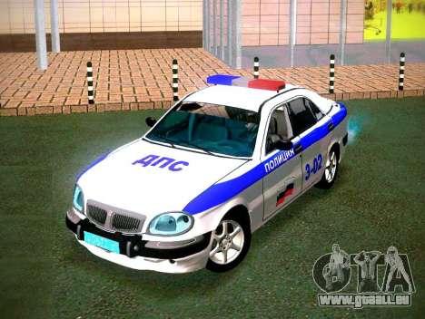 GAZ Volga 3111 DPS pour GTA San Andreas vue arrière