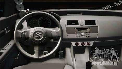 Suzuki Swift Hellaflush für GTA San Andreas Innenansicht