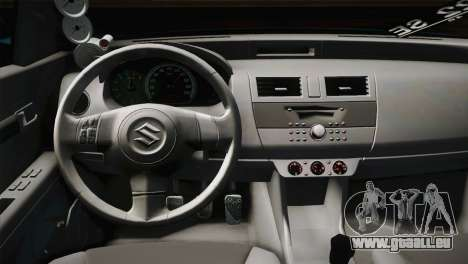 Suzuki Swift Hellaflush pour GTA San Andreas vue intérieure