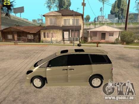 Toyota Estima Altemiss 2wd pour GTA San Andreas laissé vue