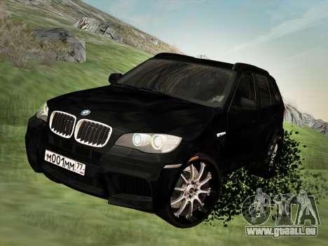 BMW X5M E70 2010 für GTA San Andreas Innenansicht
