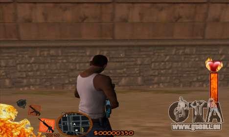 C-HUD Fire pour GTA San Andreas deuxième écran