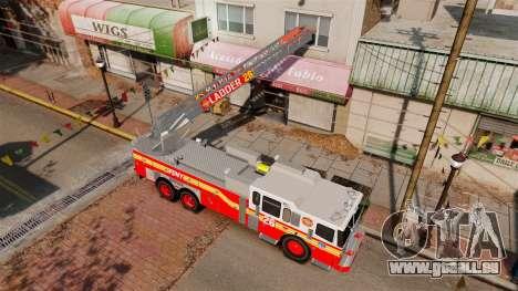 Ferrara 100 Aerial Ladder FDNY [working ladder] für GTA 4 Innenansicht