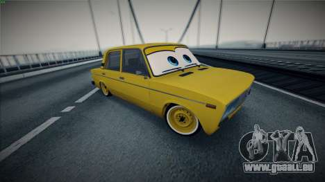 VAZ 2106 par Les Voitures pour GTA San Andreas vue arrière
