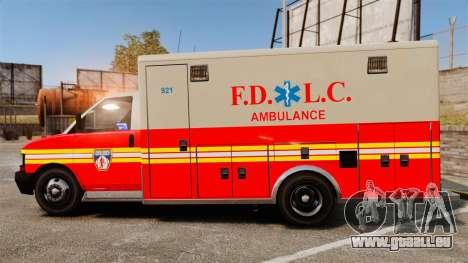 Brute Speedo FDLC Ambulance [ELS] für GTA 4 linke Ansicht