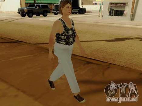 Une femme âgée v.2 pour GTA San Andreas quatrième écran