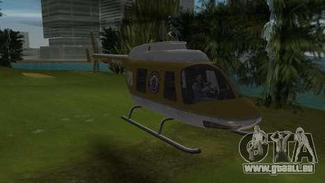 Polizei-Hubschrauber von GTA VCS für GTA Vice City linke Ansicht