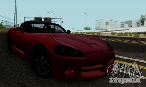 Dodge Viper SRT-10 pour GTA San Andreas vue intérieure