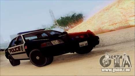 Ford Crown Victoria Police Interceptor pour GTA San Andreas vue de côté