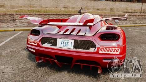 Koenigsegg One:1 pour GTA 4 Vue arrière de la gauche