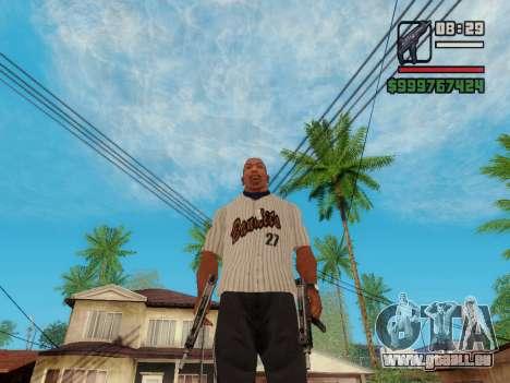 Die Maschinenpistole UZI für GTA San Andreas sechsten Screenshot