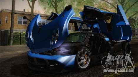 Pagani Huayra pour GTA San Andreas salon