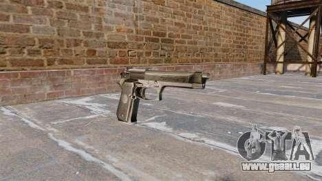 -Selbstlade-Pistole Beretta 92FS für GTA 4