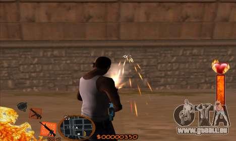 C-HUD Fire pour GTA San Andreas troisième écran