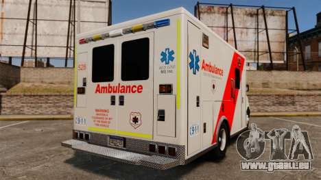 Brute Speedo RLMS Ambulance [ELS] pour GTA 4 Vue arrière de la gauche
