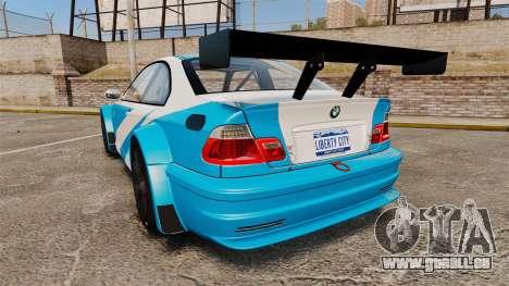 BMW M3 GTR 2012 Most Wanted v1.1 pour GTA 4 Vue arrière de la gauche