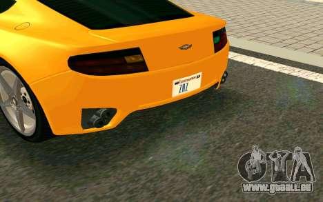 GTA V Dewbauchee Rapid GT Coupe pour GTA San Andreas sur la vue arrière gauche