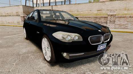 BMW M5 F10 2012 Unmarked Police [ELS] pour GTA 4