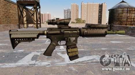 Automatique M4 carbine pour GTA 4 troisième écran