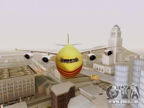 Airbus A340-600F DHL Buffalo pour GTA San Andreas vue intérieure
