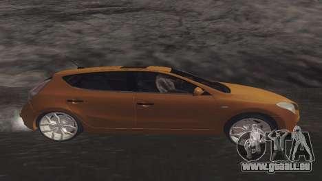 Hyundai i30 pour GTA San Andreas laissé vue