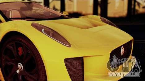 Jaguar C-X75 für GTA San Andreas zurück linke Ansicht
