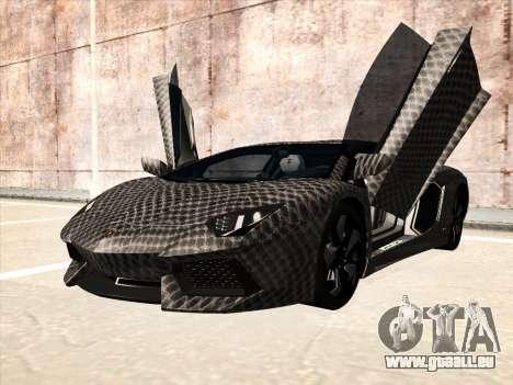 Lamborghini Aventador LP700-4 2013 pour GTA San Andreas vue arrière