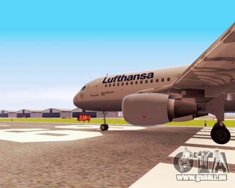 Airbus A320-200 Lufthansa für GTA San Andreas rechten Ansicht